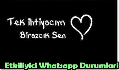 Etkiliyici whatsapp durumları
